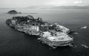 Νήσος Gunkanjima, Ιαπωνία, Mitsubishi Corporation. Ολοκληρώθηκε το 1890 και εγκαταλείφθηκε το 1974